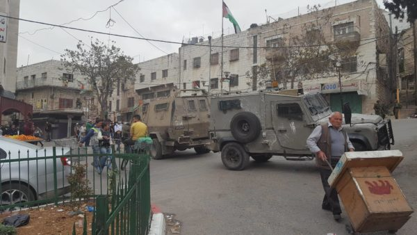 Armoured personel carriers block off roads in H1